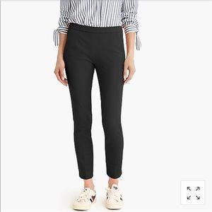 J Crew Martie Slim Crop Pant Black Stretch Cotton
